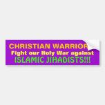 CHRISTIAN WARRIORS! CAR BUMPER STICKER