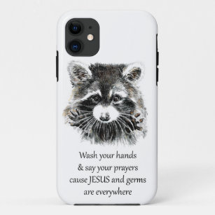 Raccoons and hearts iphone 11 case