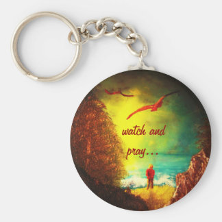 Christian watch and pray Keychain
