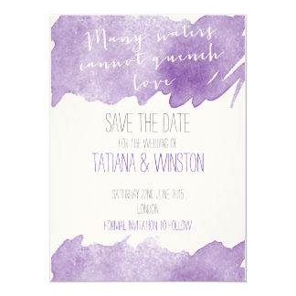 Christian Watercolor Save the Date 5.5x7.5 Paper Invitation Card