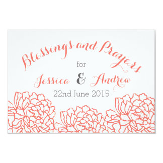 Christian Wedding Blessings & Prayer Note Card Personalized Announcement