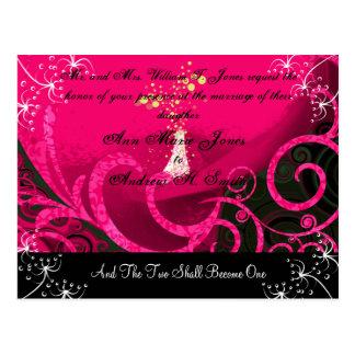 Christian Wedding Invitation Rasberry Cala Lily Post Card