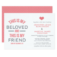 Christian Wedding Invitation - This is My Beloved
