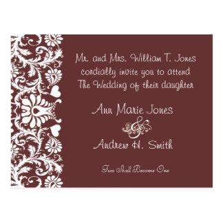 Christian Wedding Invite Any Color Custom Colors Postcard
