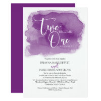 Christian Wedding Watercolor Purple Invitation