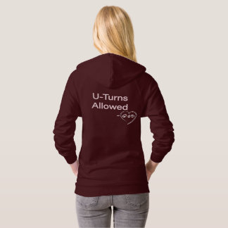 Christian Woman Humor Hoodies U-turns Allowed God