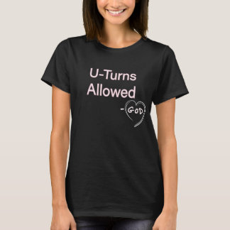 Christian Women Hoodies Tshirts U-Turn Allowed God