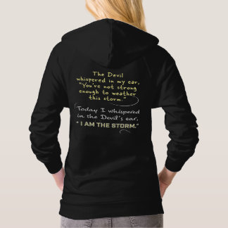 Christian Women Hoodies Whispered to Devil I am