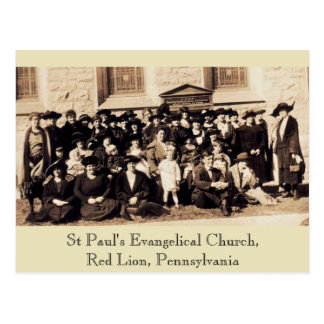 Christian Women in Sunday Hats Postcard