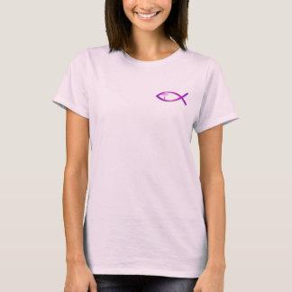Christian Women's Jesus Fish Ichthus T-Shirt