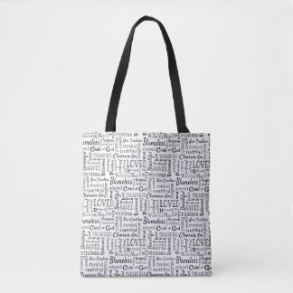 Christian Words of Affirmation Word Art Tote Bag