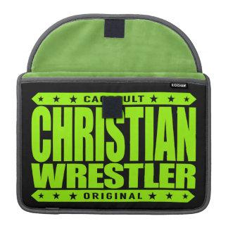CHRISTIAN WRESTLER - God Loves Freestyle Wrestling Sleeve For MacBook Pro