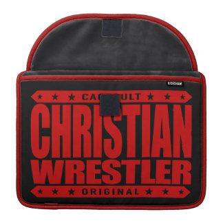 CHRISTIAN WRESTLER - God Loves Freestyle Wrestling Sleeve For MacBooks