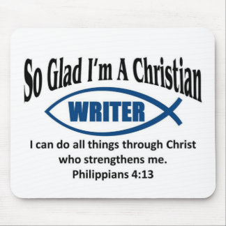 Christian writer mouse pad