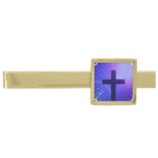 Christianity Gold Finish Tie Clip