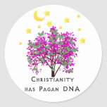 Christianity Has Pagan DNA Classic Round Sticker