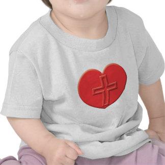 Christianity Heart Tee Shirt