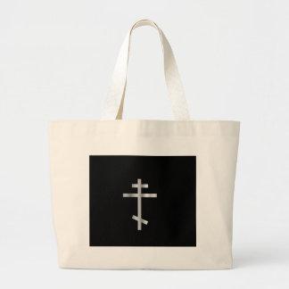 Christianity orthodox cross tote bag