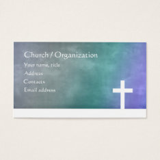 Christianity - Religious Blue Gradient Cross Card at Zazzle