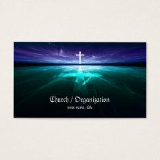 Christianity - Religious Cross Horizon Card at Zazzle