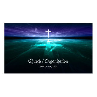 Christianity - Religious Cross Horizon Card Double-Sided Standard Business Cards (Pack Of 100)