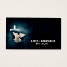 Christianity-religious Dove & Cross Business Card at Zazzle
