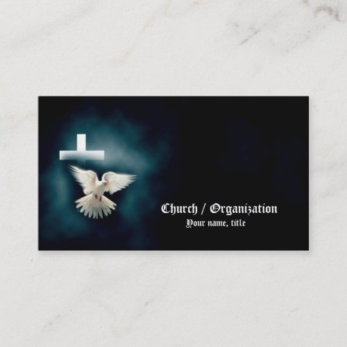 Christianity_Religious Dove  Cross Business Card