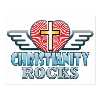 Christianity Rocks Postcard