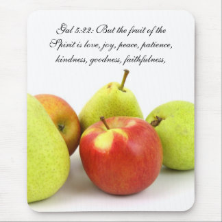 Christianity Scripture Bible Verse Gal 5:22 Mouse Pad