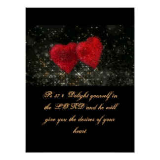 Christianity Scripture Ps 37:4 Poster