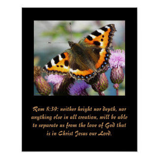 Christianity Scripture Rom 8:39 Poster