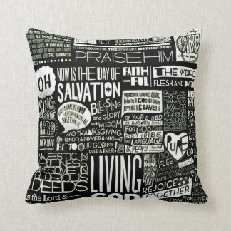Christianity Worship Collage Plush Throw Pillow