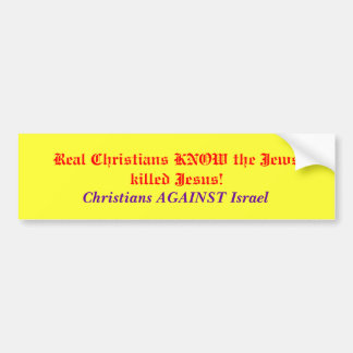 Christians against Israel Bumper Sticker