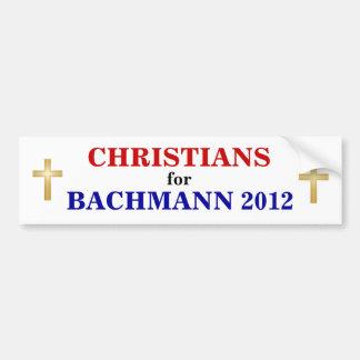 CHRISTIANS for BACHMANN 2012 sticker