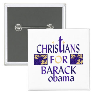 CHRISTIANS FOR BARACK OBAMA BUTTON