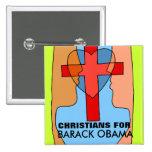 CHRISTIANS FOR BARACK OBAMA BUTTONS