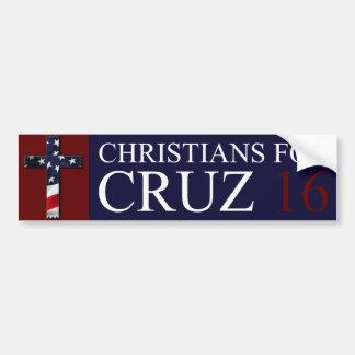 Christians for Cruz 2016 bumper sticker