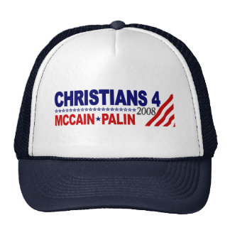 Christians for McCain Palin Trucker Hat