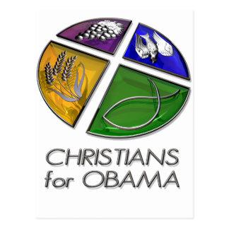 Christians for Obama 2012 Postcard