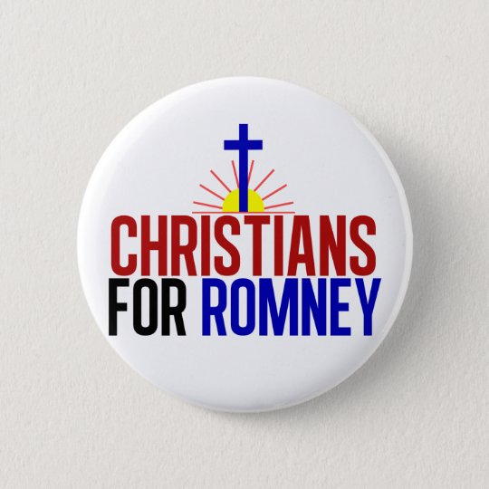 Christians for Romney Button