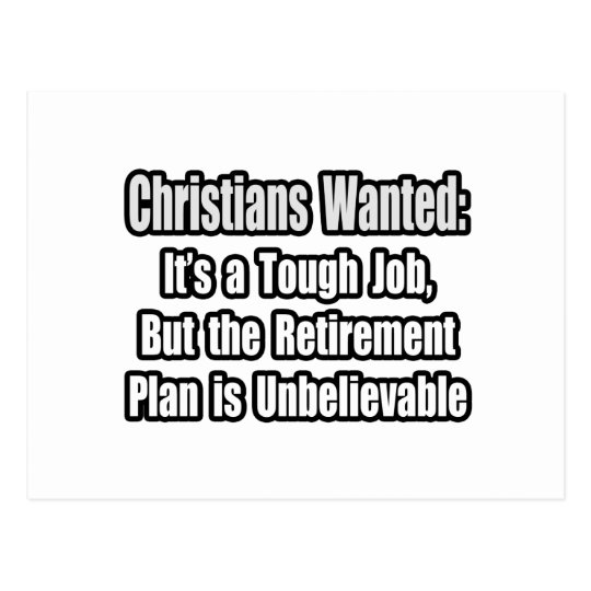 Christians Wanted... Postcard