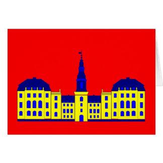 Christiansborg - amarillo tarjeta de felicitación