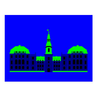 Christiansborg - blue postcard