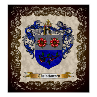 Christiansen Coat of Arms Poster