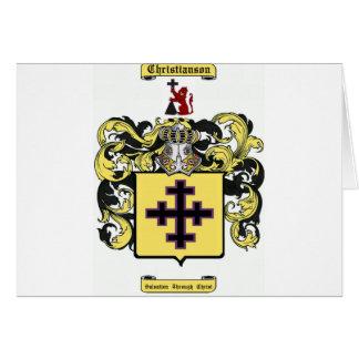 christianson tarjeta de felicitación