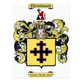 christianson tarjeta postal