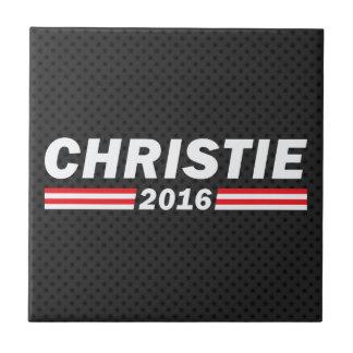 Christie 2016 (Chris Christie) Azulejo Cuadrado Pequeño