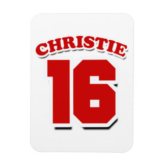 CHRISTIE 2016 JERSEY NUMBER -.png Rectangular Photo Magnet
