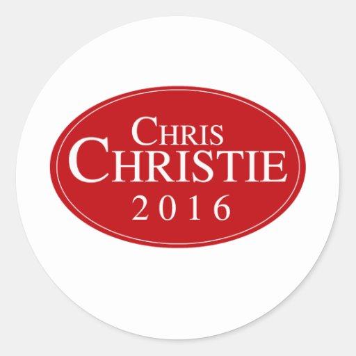 CHRISTIE 2016 OVALESQUE.png Pegatinas Redondas