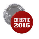 CHRISTIE 2016 PINBACK BUTTON